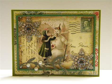 Handmade Cards Blogs - vintage snowman cards the handmade card