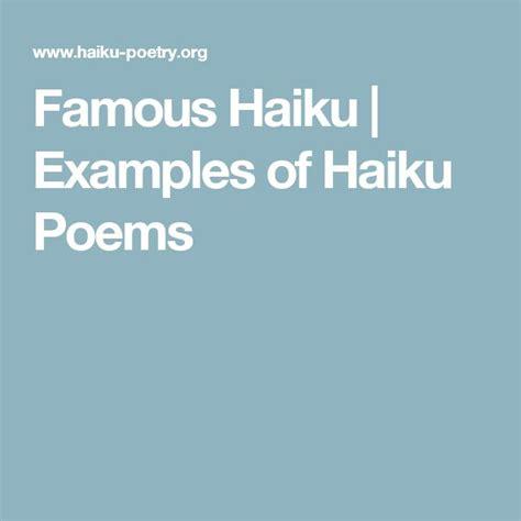 the 25 best haiku exles ideas on pinterest exles
