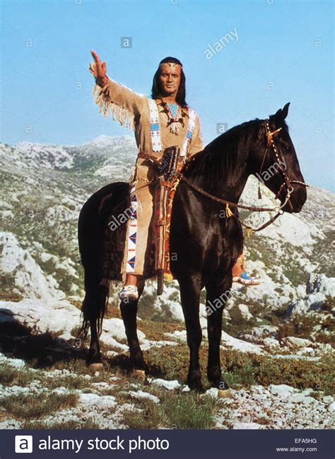 film gratis winnetou pierre brice winnetou and the crossbreed 1966 stock photo