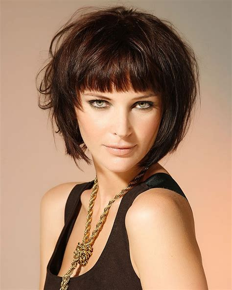 hairstyles with bangs 30 best short bob haircuts with bangs and layered bob