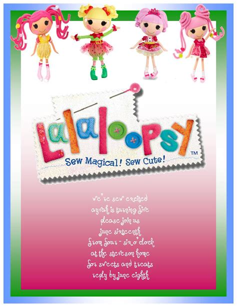 lalaloopsy party invitations template best template lalaloopsy birthday party joyously domestic