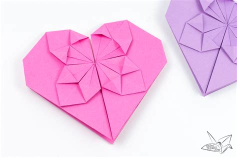 Origami Haert - money origami tutorial for s day paper kawaii