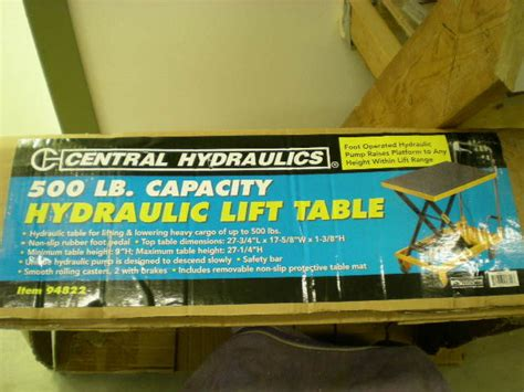 scissor lift table harbor freight review harbor freight scissor lift table by jcwalleye