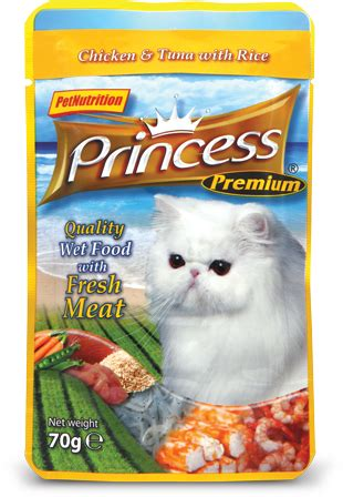 Princess Excellence 70 Gr Cat Chicken And Tuna With Rice And Salmon 1 chicken tuna w rice 70g pet princess