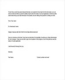 Job Application Follow Up 19 Email Amp Letter Templates