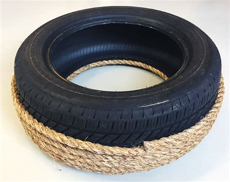 rope tire ottoman diy craft recycle an old tire into an ottoman tires plus