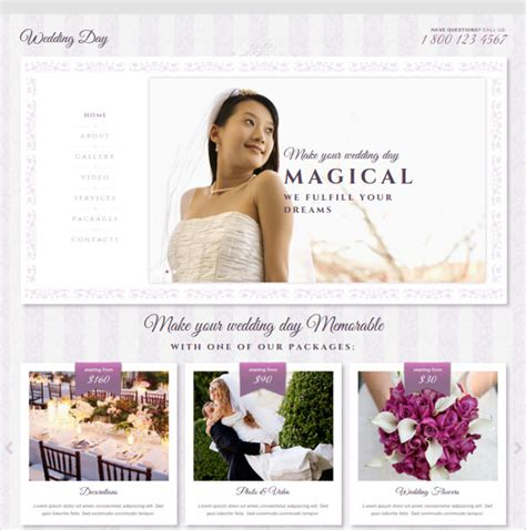 bootstrap themes free wedding 37 free wedding website themes templates free