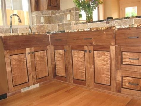Custom Figured Walnut Cabinets . Seattle Washington. by