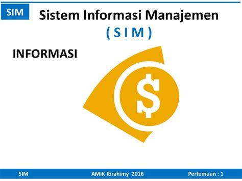 Sistem Informasi Manajemen 3 sistem informasi manajemen 1