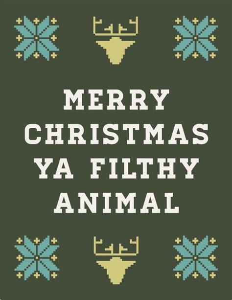 Merry Christmas Ya Filthy Animal Meme - free christmas card animated gif merry christmas ya