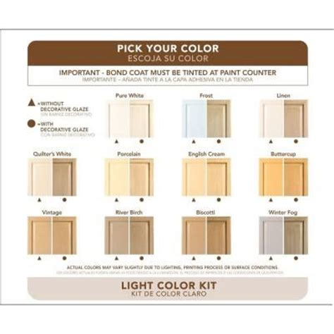 rustoleum cabinet paint colors rust oleum transformations light color cabinet kit 9