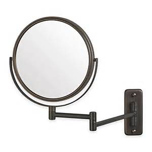 bathroom mirror mounts jerdon 5x wall mount mirror in bronze bed bath