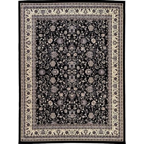 10 x 13 ft area rug unique loom kashan black 9 ft 10 in x 13 ft area rug