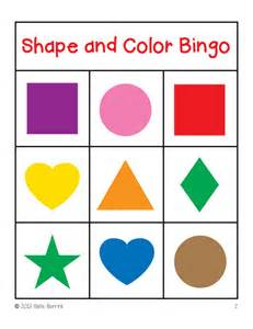shapes and colors shapes and colors bingo cards 3x3 sallieborrink