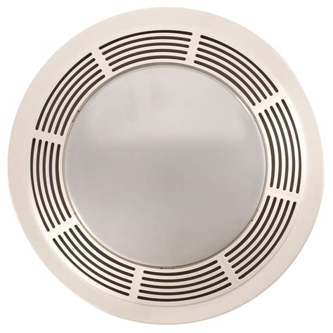 bath ventilation fans with light broan 751 fan and light with round white grille and glass