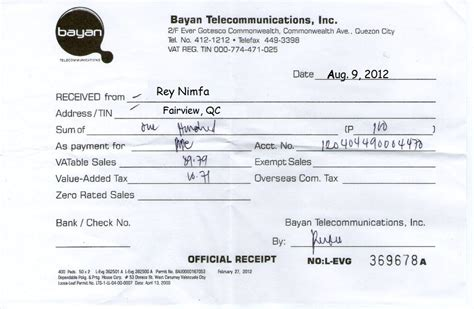 official receipt template philippines wbbbb accounting management services november 2012