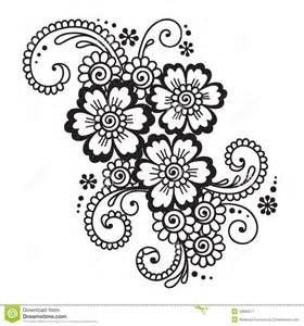 hand drog abstrakta henna mehndi flower ornament vektor