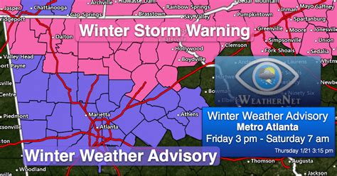 atlanta weather map snow forecast for atlanta friday iweathernet