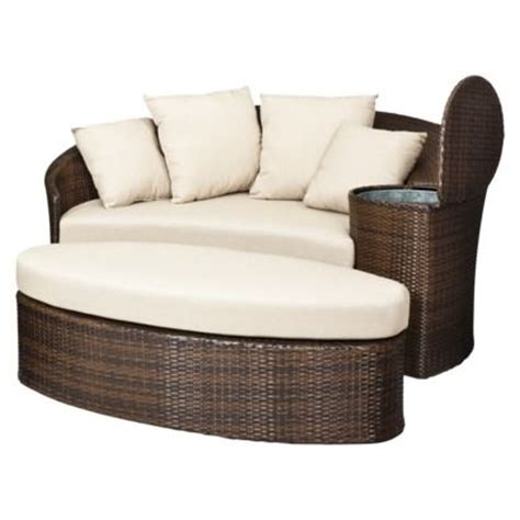 wicker day bed threshold rolston wicker patio daybed for the home pinterest