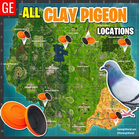 fortnite week 3 challenges map of all clay pigeon locations fortnite week 3 skeet