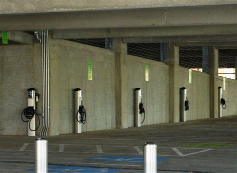 electric vehicles charging stations new parking structure will include charging stations for