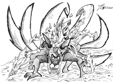 nine tails coloring pages naruto nine tails coloring pages coloring pages
