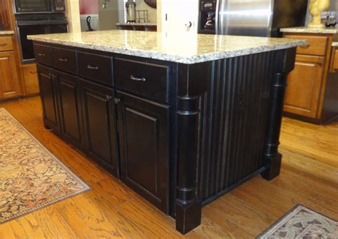 black kitchen islands black kitchen island with granite top kitchentoday