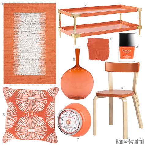 papaya color accessories orange home decor