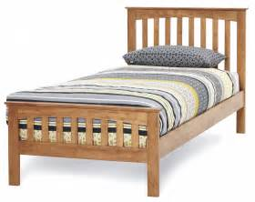 amelia honey oak finish bed frame custom size beds