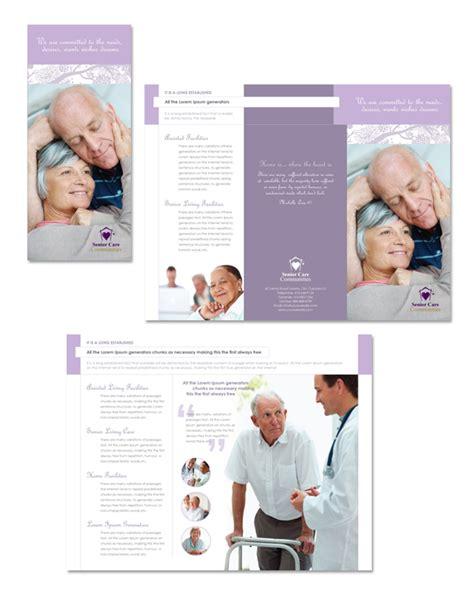 elder care nursing home tri fold brochure template