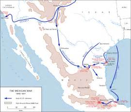 and mexican war map western colorado history mexican american war