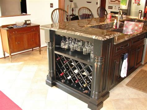kitchen island with wine rack kitchens 171 talon construction