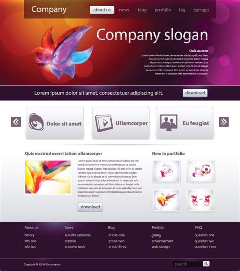 website layout design online simple web design template vector material two research