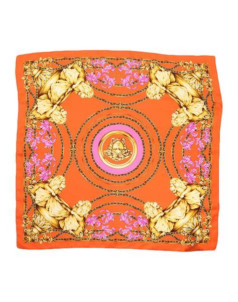 Kaos Versace lyst versace square scarf in orange