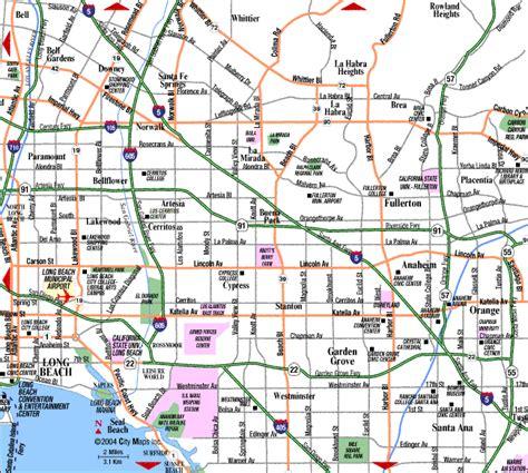map of orange county ca orange county map california