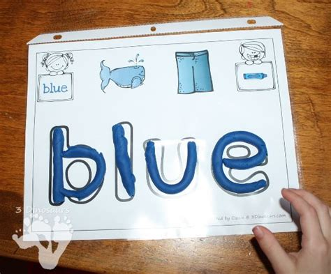 printable playdough sight word mats 66 best images about teaching colors and color words on