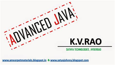 java tutorial kvr notes ameerpet institute materials java notes spring