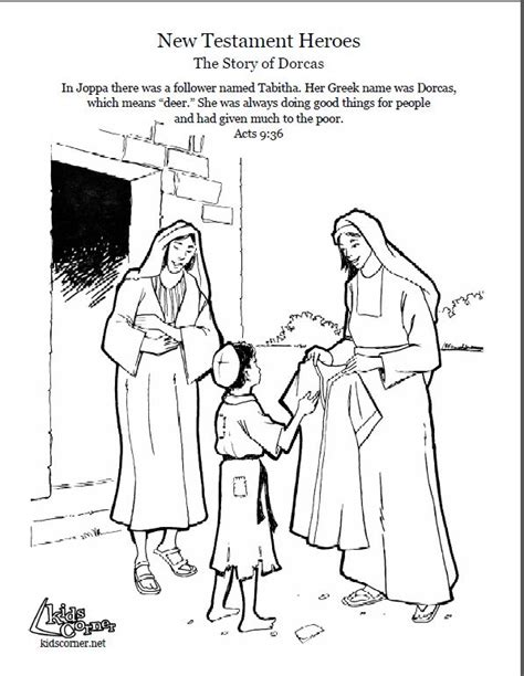 Dorcas In The Bible Coloring Pages 85 best images about sunday school dorcas on