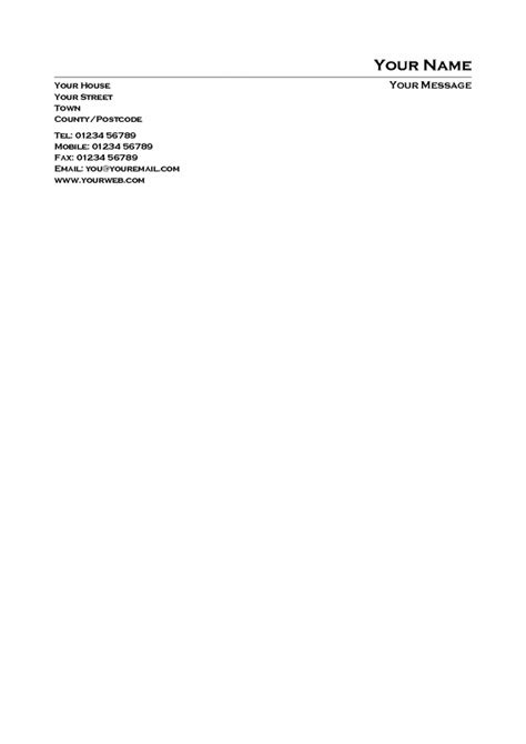 personal business letterhead template best photos of personal letter templates microsoft