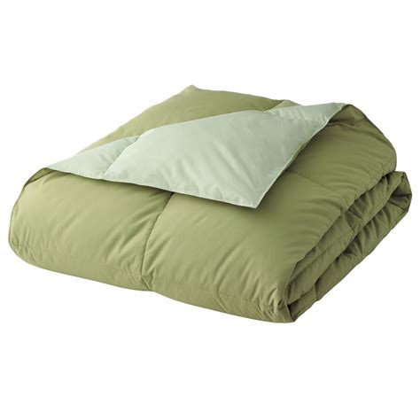 green down comforter new home classics reversible down comforter green kiwi