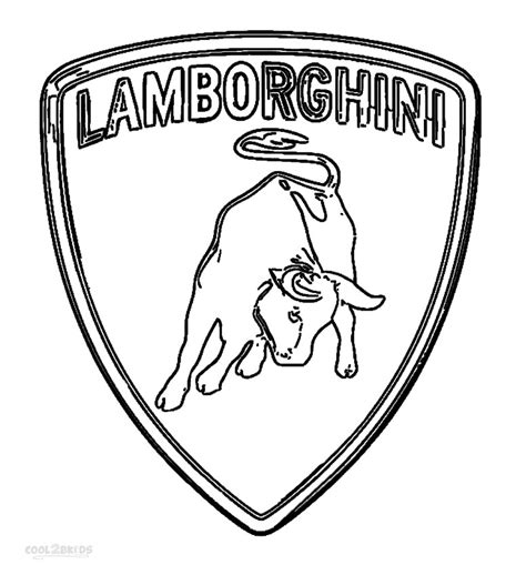 cartoon lamborghini logo printable lamborghini coloring pages for kids cool2bkids