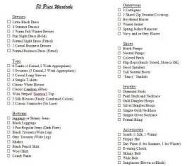 80 wardrobe checklist classic essentials and must