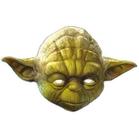 Star Home Decorations by Star Wars Yoda Cardboard Face Mask Partyrama