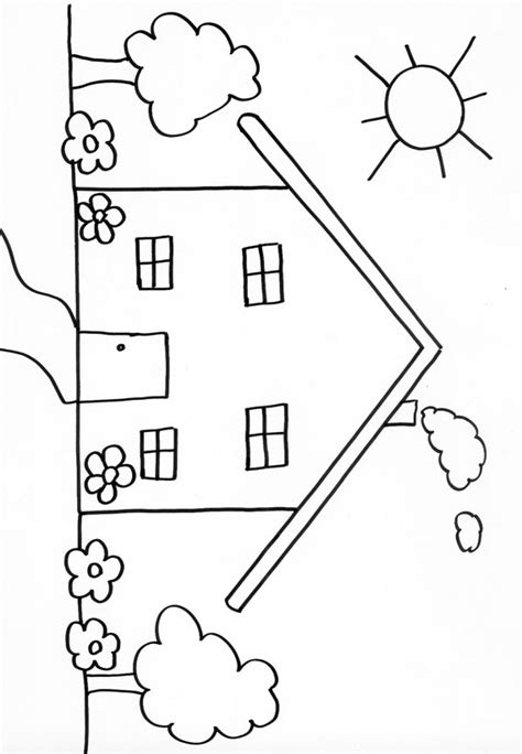Coloriage D Une Maison 6 T 234 Te 224 Modeler Coloriages De Maisons A Imprimer Maison Dessin L