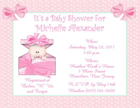 Boo girl personalized baby shower invitations w envelopes ebay baby