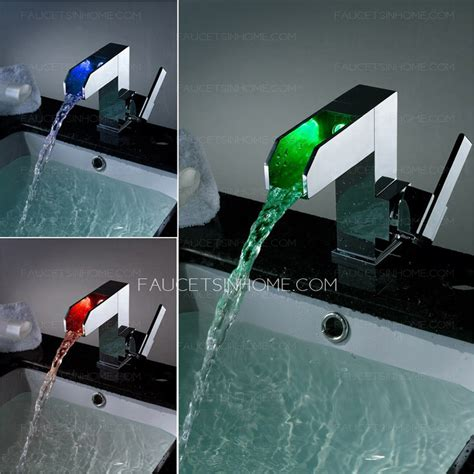 High End Single Handle Bathroom High End Led Waterfall Single Handle Bathroom Faucet