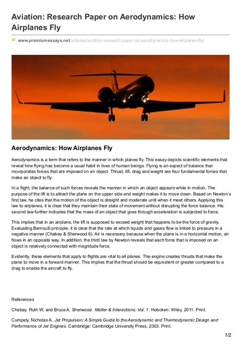 research paper airplanes premiumessays net aviation research paper on aerodynamics