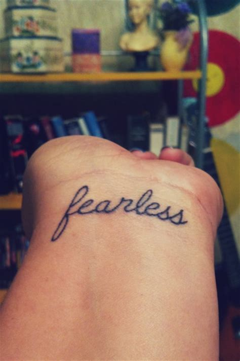 fearless wrist tattoo fearless wrist cursive search tattoos