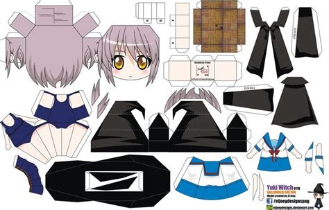 Paper Crafts Anime - yuki nagato witch joey s chibi 017b by