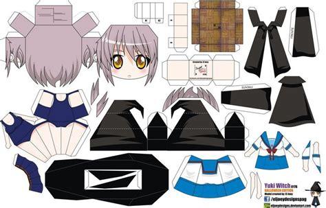 Anime Papercrafts - yuki nagato witch joey s chibi 017b by